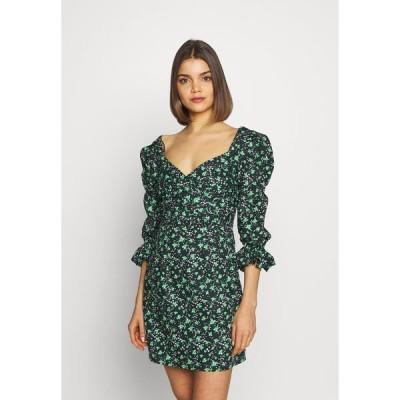 ロストインク ワンピース レディース トップス PRINTED PLEATED BODY MINI DRESS - Day dress - multi