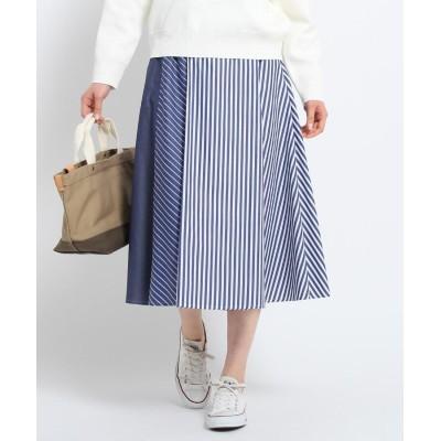 Dessin(Ladies)(デッサン(レディース)) 【洗える】アイコニックストライプスカート