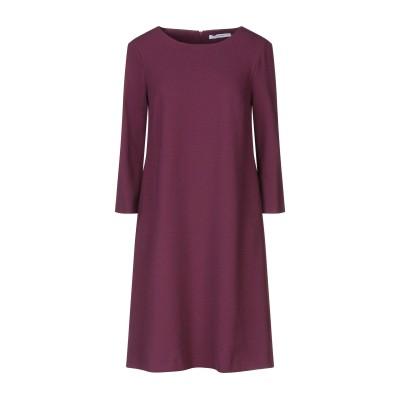 LANACAPRINA ミニワンピース&ドレス ディープパープル 40 ポリエステル 95% / ポリウレタン 5% ミニワンピース&ドレス