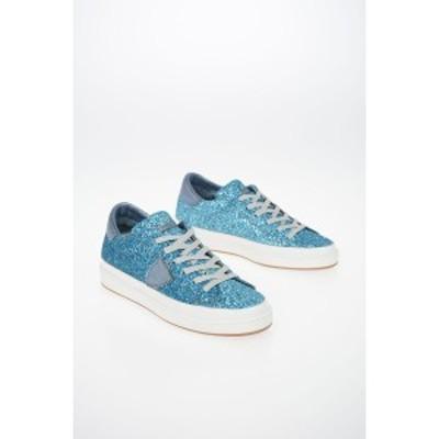 PHILIPPE MODEL PARIS Light blue レディース Glittered Sneakers dk