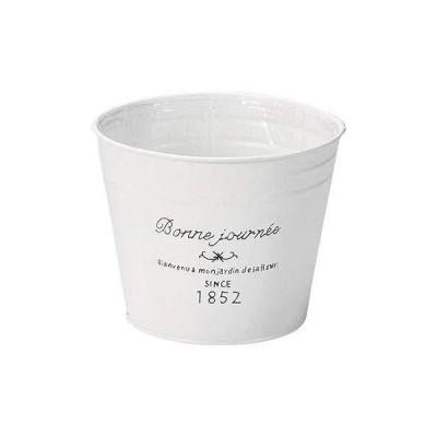 ブリキ製丸型鉢L 10-02 プランター ブリキ アンティーク ハーブ 花 ガーデン ガーデニング