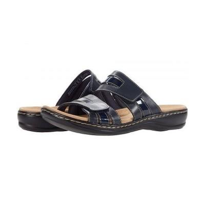 Clarks クラークス レディース 女性用 シューズ 靴 サンダル Leisa Zoe - Navy Leather/Synthetic Combination