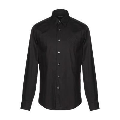 ロベルト カヴァリ ROBERTO CAVALLI シャツ ブラック 48 コットン 96% / ポリウレタン 4% / ポリエステル シャツ