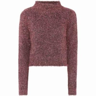 エラリー Ellery レディース ベアトップ・チューブトップ・クロップド トップス Cropped sweater Pink