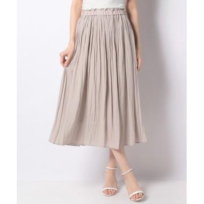 【グレディブリリアン】 割繊デシンギャザースカート レディース グレージュ 38 Gready Brilliant