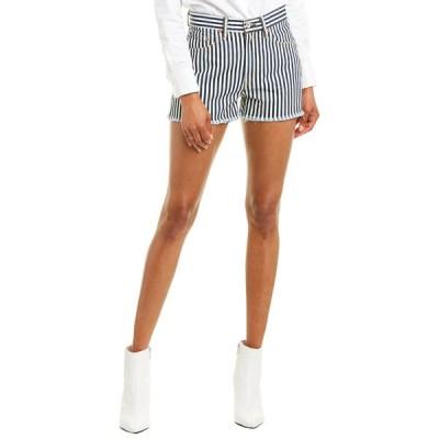 ラグアンドボーン カジュアルパンツ ボトムス レディース rag & bone Justine Indigo Stripe Short indigo stripe