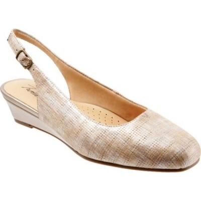 トロッターズ Trotters レディース シューズ・靴 Lenore Slingback Sand/Beige Multi Leather