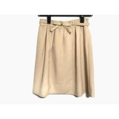 アプワイザーリッシェ Apuweiser-riche スカート サイズ1 S レディース 美品 ベージュ リボン【中古】20190912
