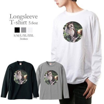 Tシャツ ロンT メンズ 長袖 猫 ネコ ハロウィン CAT カワイイ おしゃれ トレンド メンズファッション ロングTシャツ