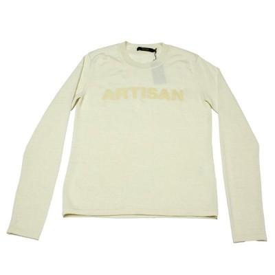 新品正規70%OFF ARTISAN アルチザン 日本製 ニット セーター M 白 カシミア90%使用 カシミアウール キュートロゴ