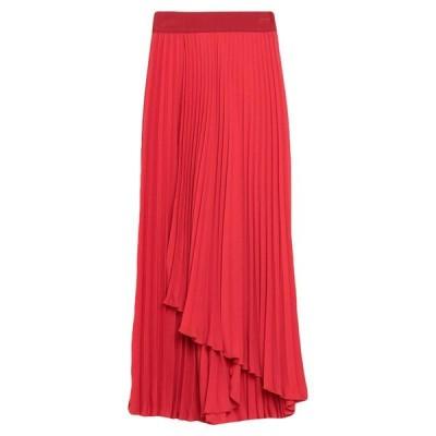 MERCI メルシー 七分丈スカート ファッション  レディースファッション  ボトムス  スカート  ロング、マキシ丈スカート レッド