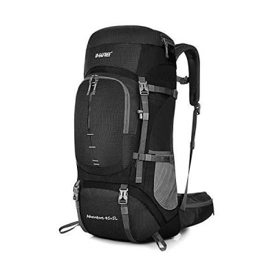 海外限定 G4Free 50L Waterproof Lightweight Hiking Backpack with Rain Cover,Outdoor Sport Travel Daypack for Climbing Camping Touring(Bla