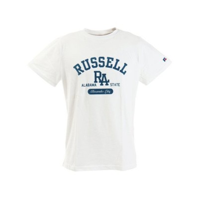 ラッセル(RUSSELL) BD Tシャツ RA FLOCK RBM20S0018 WHT  半袖 (メンズ)