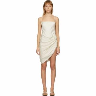 ジャックムス Jacquemus レディース ワンピース ワンピース・ドレス SSENSE Exclusive Off-White La Robe Saudade Dress Off-white