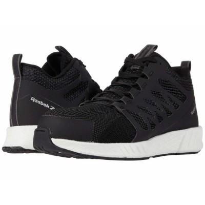 リーボック スニーカー シューズ メンズ Fusion Flexweave Work Composite Toe Black/White