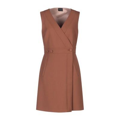 ゴータ GOTHA ミニワンピース&ドレス ブラウン 2 ポリエステル 64% / レーヨン 32% / ポリウレタン 4% ミニワンピース&ドレス