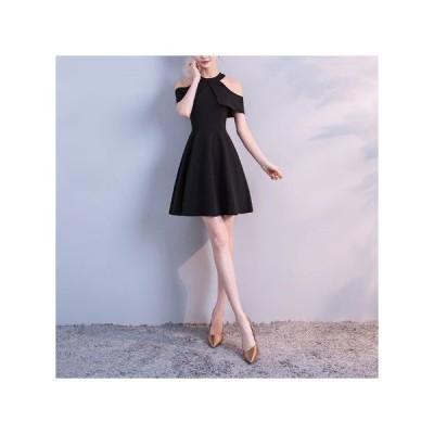 パーティードレス 20代 30代 40代 50代 結婚式 ワンピース 大きいサイズ ミニ丈 ショート丈 半袖 無地 体型カバー Aライン フレアスカート きれいめ