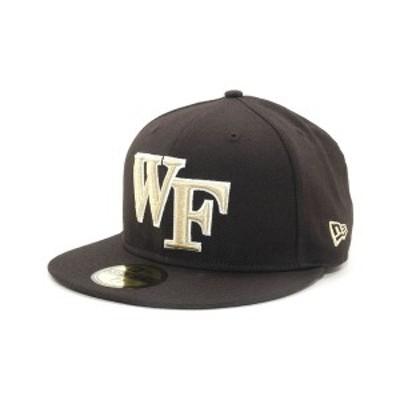 ニューエラ メンズ 帽子 アクセサリー Wake Forest Demon Deacons 59FIFTY Cap Black