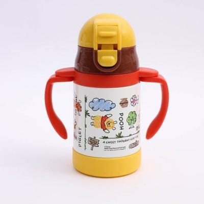 水筒 くまのプーさん 超軽量両手ストローステンレスボトル POOH スケッチB / STWM3 キャラクター ディズニー omk