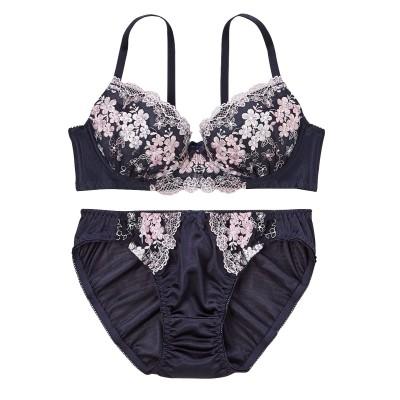 フラワーフェスティバルブラジャー・ショーツセット(D70/M) (ブラジャー&ショーツセット)Bras & Panties