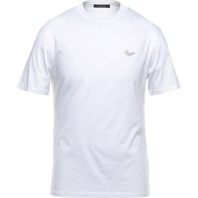 エルメネジルド ゼニア ERMENEGILDO ZEGNA メンズ Tシャツ トップス t-shirt White