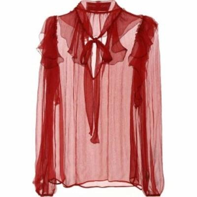 ドルチェandガッバーナ Dolce and Gabbana レディース ブラウス・シャツ トップス Silk chiffon blouse Bordeaux Scuro