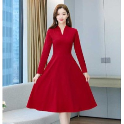[5の付く日はポイント5倍!]予約商品 大きいサイズ レディース  春夏新作 韓国 ファッション ドレッシー ワンピース S-4L  ゆったり 体型