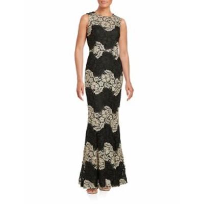 カルバンクライン レディース ワンピース Lace Trumpet Gown