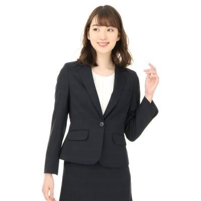 1ボタンショート丈ジャケット【セット着用可】【ウォッシャブル】