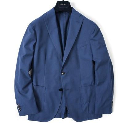BOGLIOLI テーラード ジャケット 2Bシングル 春夏 メンズ 千鳥格子 ブルー