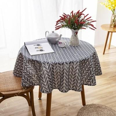 テーブルクロス 盖巾 食卓カバー 北欧風 綿麻製品 汚れ防止 滑り止め 耐久 耐熱 お洒落な 手入れ簡単 防カビ 防臭 家庭用 ダイニング用 インテリア 円形 花柄