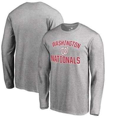 ファナティクス ブランデッド メンズ Tシャツ トップス Washington Nationals Victory Arch 2 Long Sleeve T-Shirt