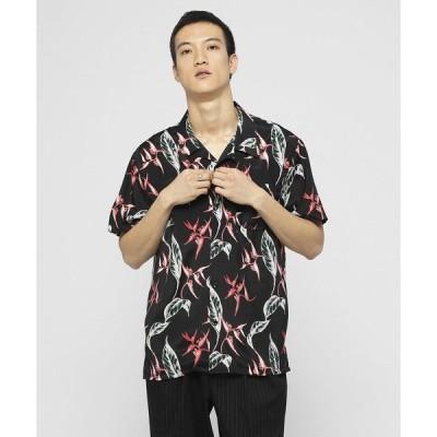 シャツ ブラウス レーヨンリーフオープンカラーシャツ 〜JAPAN MADE〜