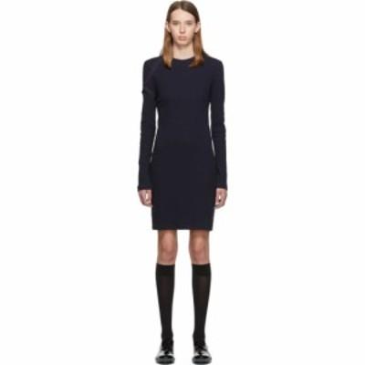 ヘルムート ラング Helmut Lang レディース ワンピース ワンピース・ドレス Navy Crepe Harness Short Dress Ink