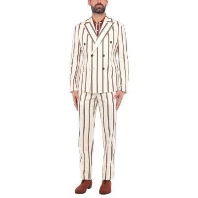 ブライアン デールズ BRIAN DALES スーツ アイボリー 48 コットン 46% / 麻 39% / アセテート 11% / ポリウレタン