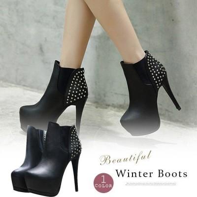 ショートブーツレディースシューズ靴美脚ハイヒール痛くないブーツぺたんこ履きやすい大きいサイズ秋冬おしゃれ