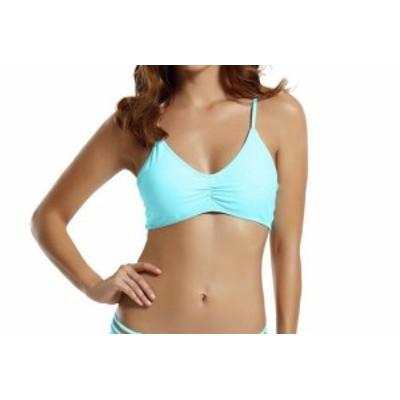 スポーツ用品 スイミング Zeraca NEW Blue Womens Size XS Racerback Solid Bikini Top Swimwear