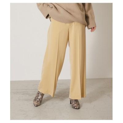 crie conforto / センタープレスワイドパンツ WOMEN パンツ > スラックス