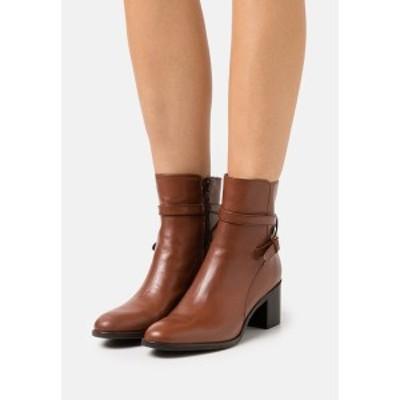 デューンロンドン レディース ブーツ&レインブーツ シューズ PATTI - Classic ankle boots - dark tan dark tan