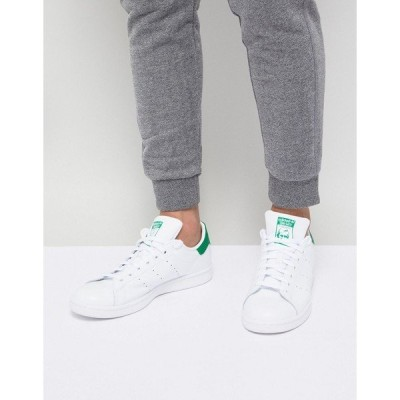 アディダスオリジナルス メンズ スニーカー シューズ adidas Originals stan smith sneakers white and green White