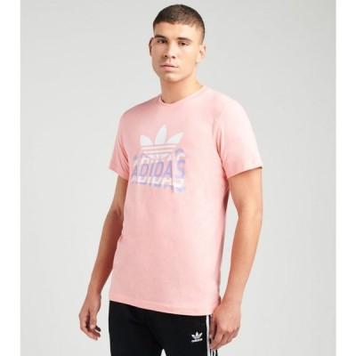 アディダス Adidas メンズ Tシャツ トップス multi fade tee GLORY PINK