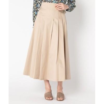 スカート コットンツイル グルカタックフレアスカート