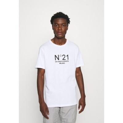 ヌメロ ヴェントゥーノ Tシャツ メンズ トップス Print T-shirt - white