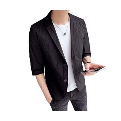 テーラードジャケット メンズ 7分袖 長袖 サマージャケット 細身 ジャケット 春夏 タイト ジャケット メンズ カジュアル ジャケット ビジネス