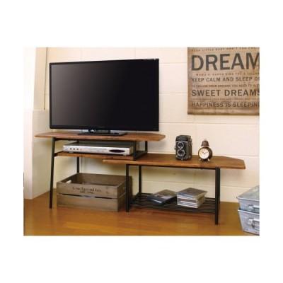 KOEKI スライドTVボード/TVS-B80(BR) ブラウン/W80-131xD40xH44cm