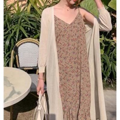 ミドル丈 サマー カーデ 羽織り 日焼け予防 クーラー対策 細見え