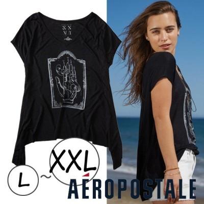 売切りセール トップス Tシャツ 夏 大きいサイズ レディース  チュニック Tシャツ エアロポステール AEROPOSTALE トップス メール便可