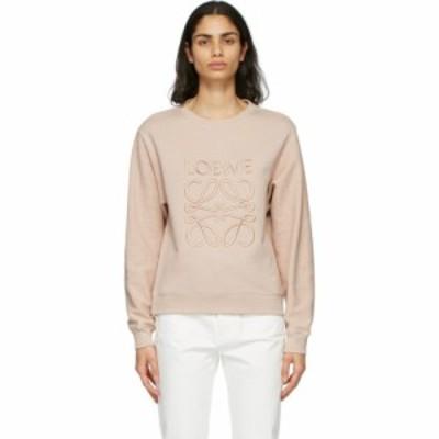 ロエベ Loewe レディース スウェット・トレーナー トップス Pink Anagram Sweatshirt Pale salmon