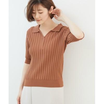 ROPE' PICNIC / スキッパーニットポロシャツ WOMEN トップス > ポロシャツ
