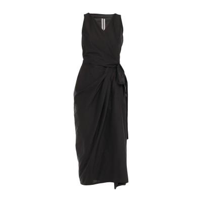 リック オウエンス RICK OWENS 7分丈ワンピース・ドレス ブラック 40 コットン 77% / シルク 23% 7分丈ワンピース・ドレス